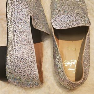 Christian Louboutin Mens Crystal Loafers